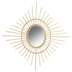 Diamond Rattan Mirror